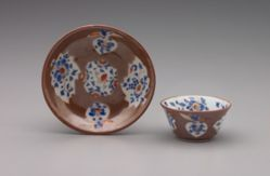 "Tea Bowl and Saucer, ""Batavian"" ware"