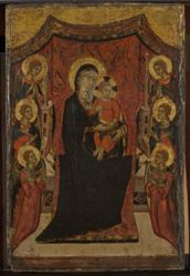 The Crucifixion and the Virgin and Child Enthroned