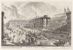 Veduta di Piazza di Spagna (View of the Piazza di Spagna), from Vedute di Roma (Views of Rome)