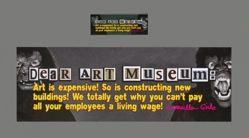 Dear Art Museum Billionaire, from the Guerrilla Girls' Portfolio Compleat 2012–2016 Upgrade