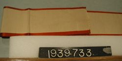 Length of gros grain and satin ribbon