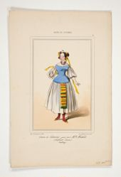 Costume de Catarina, jouee par Mlle Mathilde...