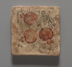 Tile with Three Pomegranates