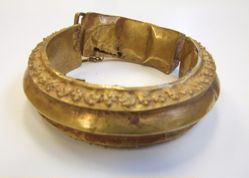 One of a Pair of Repousse Anklets