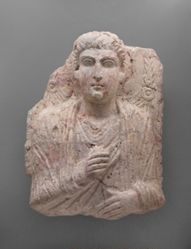 Funerary stele of a man