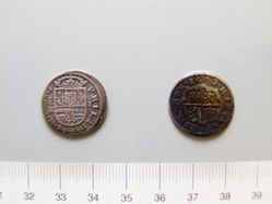 Silver real of Philip IV from Segovia