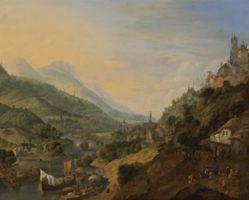Jan Griffier the Elder, A Rheinish Landscape