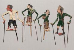 Shadow Puppet (Wayang Kulit) of a Javanese Older Woman, from set Wayang Perjuangan or Wayang Revolusi