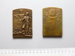 Bronze Plaquette from Austria of Victa Denique, Victrix Natura