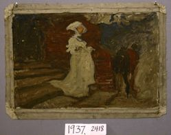 Compositional Study, possibly for Margaret and Faust
