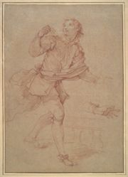 Study of a Young Man, study for the tapestry, Sancho's departure for the island of Barataria