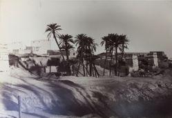 Village and Pylon at Edfu