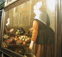 Market Stall with Fruit and Two Peasant Ladies