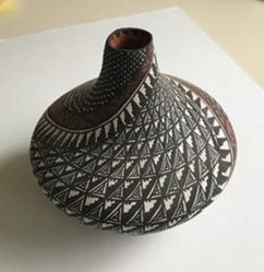 Vase with a Swirl Design