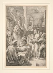 Christ Before Caiphas, from The Passion, #4 in a series of 12 engravings