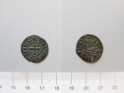 Silver denier of Florent of Hainaut from Achaia