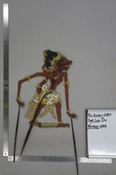 Shadow Puppet (Wayang Kulit) of Putaksi, from the set Kyai Drajat