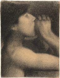 L'écho (Echo), study for Une baignade, Asnières (Bathers at Asnières)