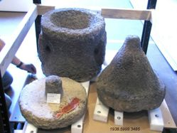 large mortar or grinding mill