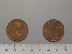 1 Cent from Ottawa with George V, King of Great Britain
