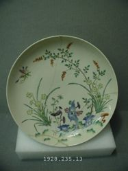 Dish with Flowers, Bats, and Insects