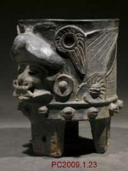 Tripod Vessel in the Shape of a Figure Wearing a Bird Costume