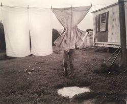 Eugene checking the laundry