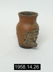 Miniature Vase with Face of the Wind God (Ehecatl)