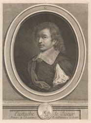 Eustache Le Sueur, from the book Les hommes illustres... by Charles Perrault (Paris: Dezallier, 1696-1700), vol. I