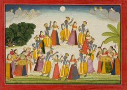 Dance of Krishna and the Gopis, from a History of the Lord (Bhagavata Purana) manuscript