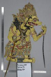 Shadow Puppet (Wayang Kulit) of Kumbakarna, from the set Kyai Drajat