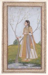 Woman Grasping a Tree Branch