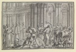 Christ Driving Moneychangers from the Temple, from Life of Christ