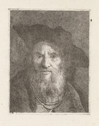 Old Man with a Hat, from the Raccolta di Teste (Collection of Heads)