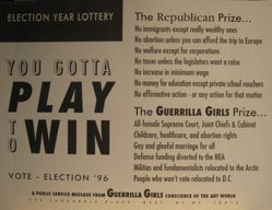 Election year lottery. You gotta play to win, from the Guerrilla Girls' Compleat 1985-2008