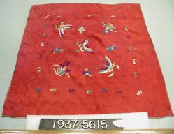 Handkerchief of Fancy Cloth, embroidered