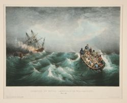 Incendie du Navire Americain le Walter-Scott (Burning of the American ship Walter Scott)