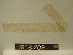 Length of imitation Alencon lace