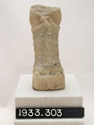 Lower half of large alabaster statuette of half-draped Aphrodite