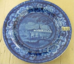 Plate with a view of Philadelphia (Penn's Treaty Tree)