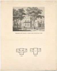 Residence and Library of Ithiel Town, New Haven, Conn.