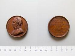 Copper medal of James Cook