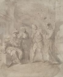 Tobit and the Angel Leaving His Parents