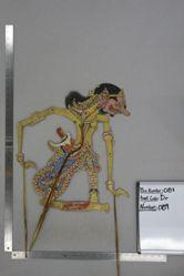 Shadow Puppet (Wayang Kulit) of Pragomo, from the set Kyai Drajat