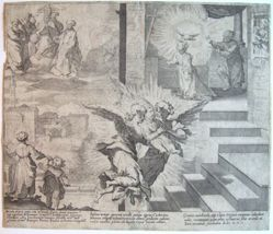 Plate 1, from the series, Life and Miracles of Saint Catherine of Siena