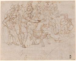 Gaius Marcius Coriolanus discovered among the Volscians