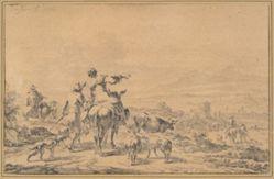 Herdsmen in an Italian Landscape