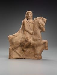 Figurine of horse and rider
