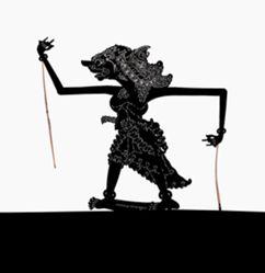 Shadow Puppet (Wayang Kulit) of Sarpakanaka, from the consecrated set Kyai Nugroho