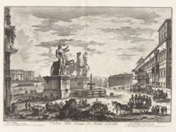 Veduta della Piazza di Monte Cavallo (View of the Piazza di Monte Cavallo [now the Piazza del Quirinale with the Quirinal Palace]), from Vedute di Roma (Views of Rome)